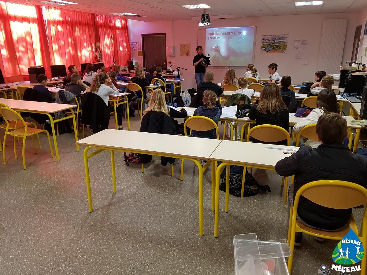 Les élèves du collège à Julienne Farenc à Dombasle (54)