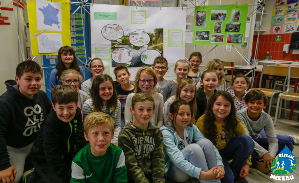 Les élèves de l'école des 4 vents à Pommerieux (57)