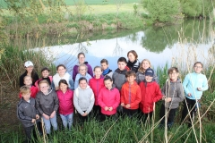 Animation Mél'Eau avec l'association Reflets d'eau douce et les élèves de l'école des 4 vents à Pommerieux (57)